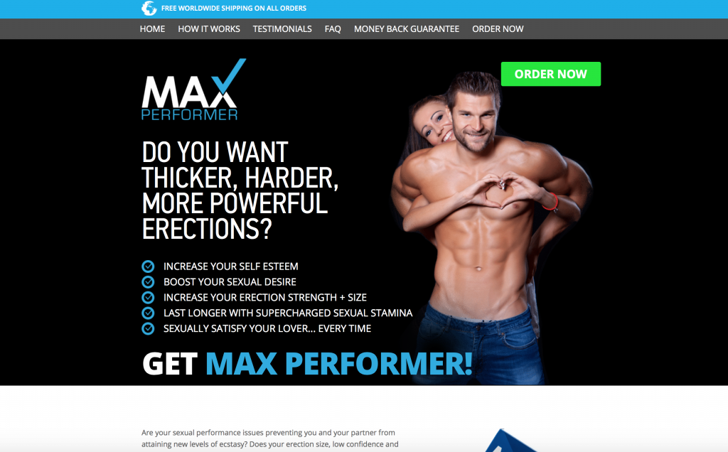 max performer website