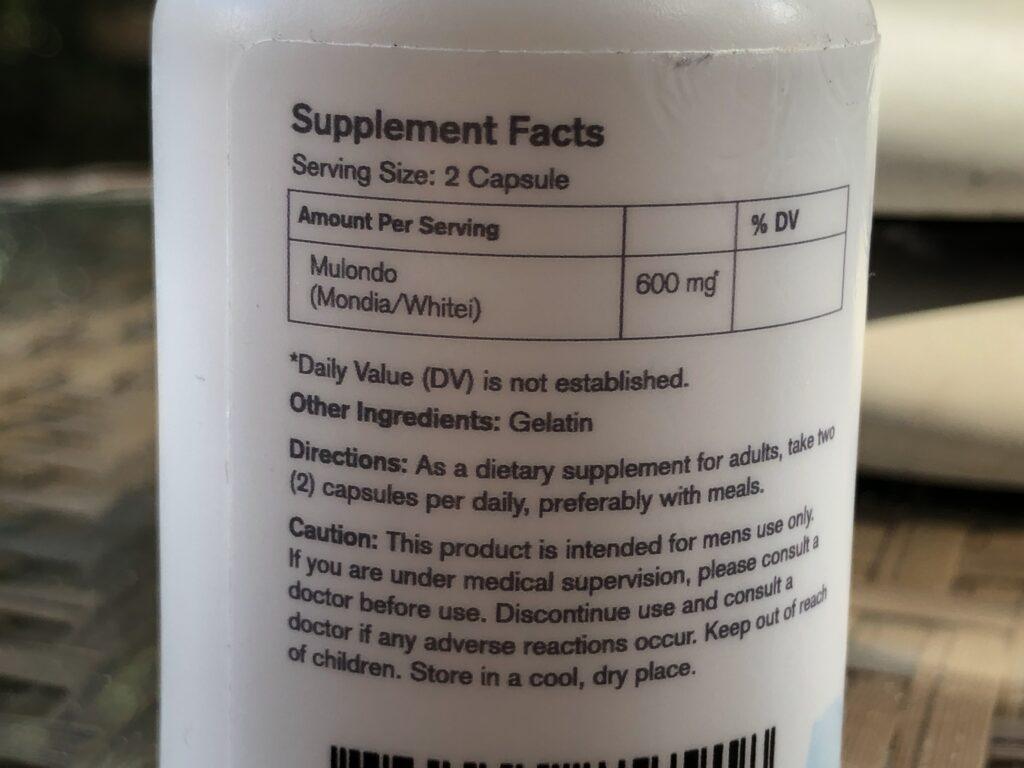 mulondo mondial whitei bottle