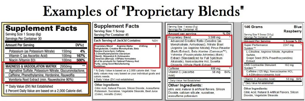 example of proprietary blends