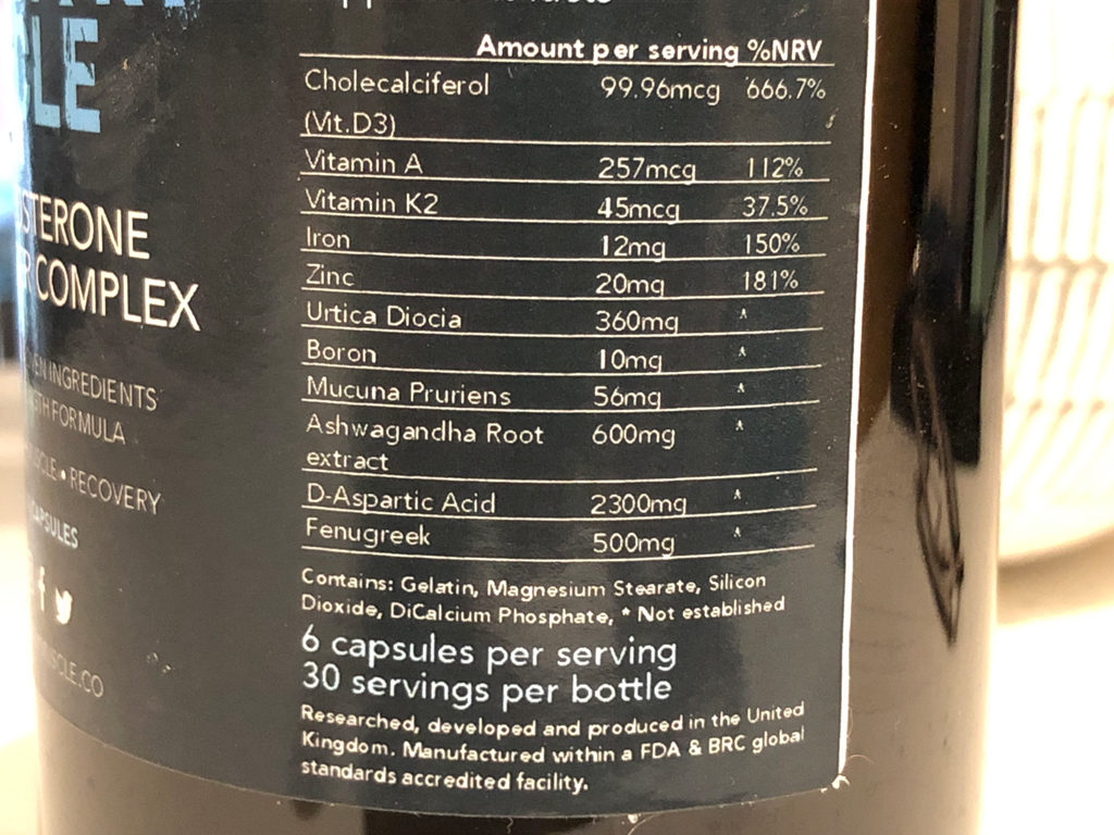 military muscle ingredients